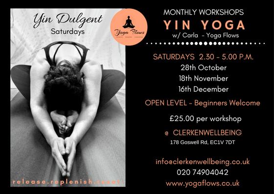 Monthly YIN YOGA W Carla Yoga Flows